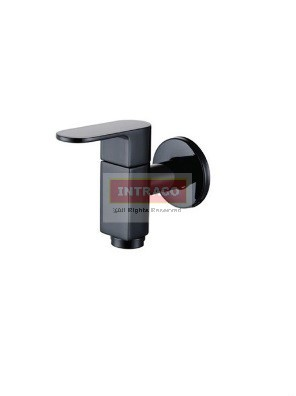 AIMER Brass Black Wall Bib Tap AMFC-7572