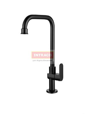 AIMER Brass Black Kitchen Pillar Sink Cold Tap  AMFC-7576
