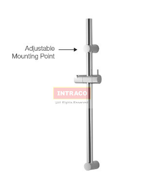AIMER S/S SUS304 Shower Rail Only (ABS Holder) Round  AMBA-802