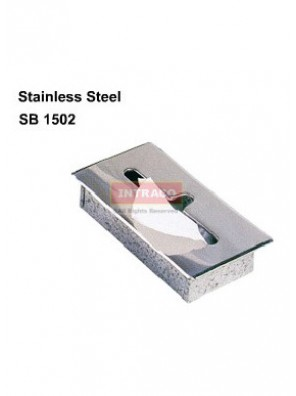 DOE stainless steel semi-recessed toilet tissue box