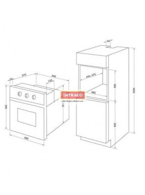 HAFELE HO-K60B-534.05.581  Built in oven; Size: 595W X 595D X 595H mm