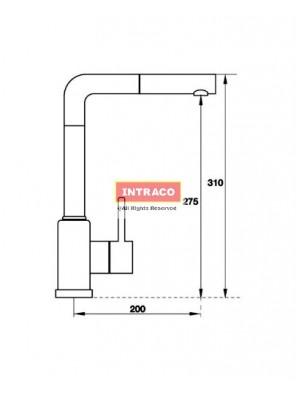 HAFELE HF-GI501-IRON GREY-569.15.501 Granite & chrome surface tap mixer