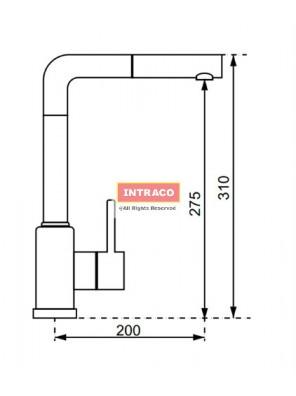 HAFELE HF-GC301-CARBON-569.15.301 Granite & chrome surface tap mixer