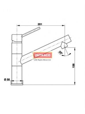 HAFELE HF-GC311-CARBON-569.15.311  Granite & chrome surface tap mixer