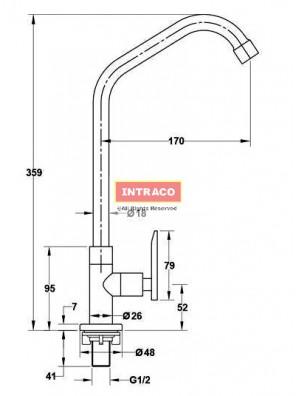 HAFELE HF-JL311-570.52.211 Brass chrome kitchen cold tap