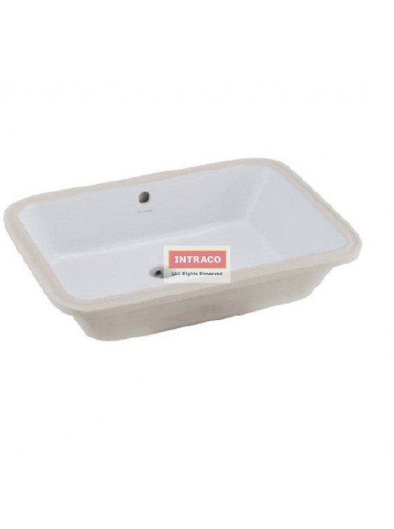 JOHNSON SUISSE WBAAGM200WW GEMELLI RECTANGULAR  UNDERCOUNTER BASIN; 560 X 400MM (WHITE)
