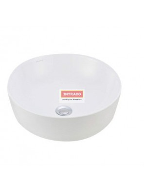 JOHNSON SUISSE WBVC950144WW VALENCIA SLIM ROUND COUTERTOP BASIN; 415 X 415MM (WHITE)