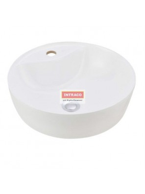 JOHNSON SUISSE WBVC950145WW VALENCIA SLIM ROUND COUTERTOP BASIN; 420 X 420MM (WHITE)