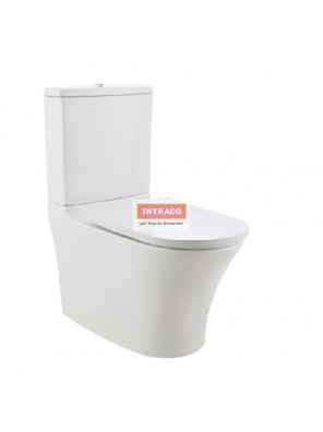 JOHNSON SUISSE COMPLETE SET FOR VICENZA DUAL OUTLET 6/3L BTW C/COUPLED WC SET (SIMLESS)(WHITE)