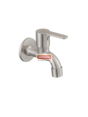 "JOHNSON SUISSE WBFA301416SS MURANO S/S 1/2"" BIB TAP WITH WALL FLANGE"