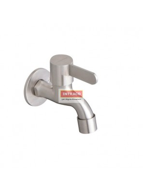 "JOHNSON SUISSE WBFA301426SS SANTINO S/S 1/2"" BIB TAP WITH WALL FLANGE"