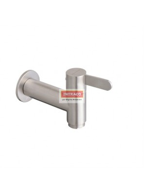 "JOHNSON SUISSE WBFA301427SS SANTINO S/S 1/2"" SLIM BIB TAP WITH WALL FLANGE"