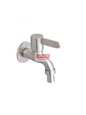 "JOHNSON SUISSE WBFA301429SS SANTINO S/S 1/2"" WASHING MACHINE TAP WITH WALL FLANGE"