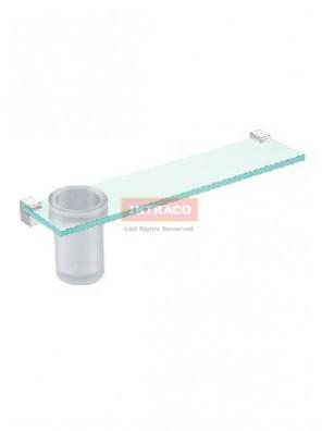 Johnson Suisse WBBA100250CP Design-Glass Shelf & Tumbler