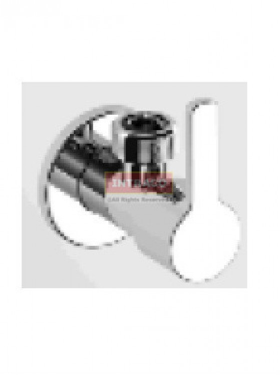 """Johnson Suisse WBFA301387CP Turin C. P 1/2"""" Angle Valve With Wall Flange"""