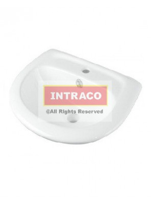 Orin Smart 400 Wall Hung Basin Single Taphole W Overflow Cw Fixing Bolt; Size:440Wx340Lx160mm H (WH)