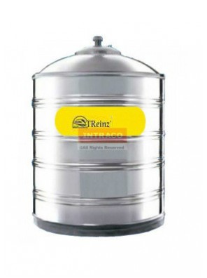 Treinz Sm50F-2000 Litre 1200mm (D) X 1880mm (H) Stainless Steel Water Tank W/O Stand Flat Bottom