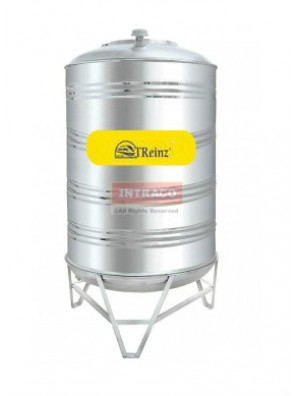 Treinz Sm60K-3000 Litre 1480mm (D) X 2490mm (H) Stainless Steel Water Tank W Stand Round Bottom