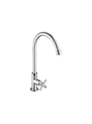 """J.SUISSE Asti-N 1/2"""" Deck Mounted Sink Tap With Swivel (Round) Spout WBFA301410CP"""