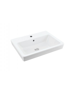 Johnson Suisse Bergamo Square Wall Hung Basin Set C/W Fixing (White) WBSABQ101WW