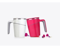 Grace Suction Mug  X  2 unit (RED & WHITE)