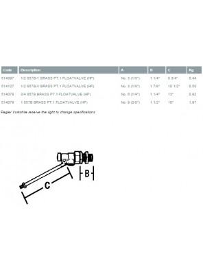 "PEGLER Brass Ball Float Valve H/Duty 25mm (1"")"