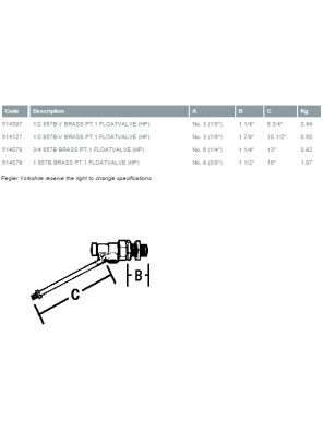 "PEGLER Brass Ball Float Valve H/Duty 32mm (1-1/4"")"