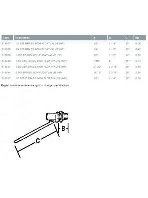 """PEGLER Brass Ball Float Valve MOH L/Duty 32mm (1-1/4"""")"""