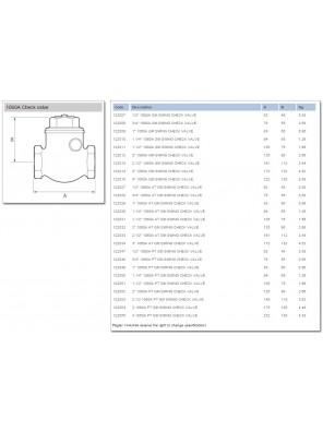 "PEGLER Brass Swing Check Valve 15mm (1/2"")"