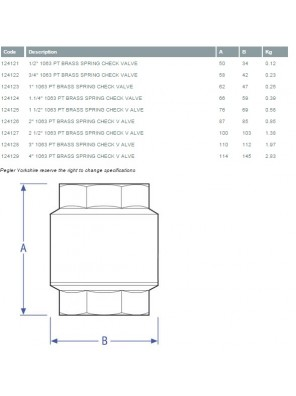 "PEGLER Brass York Check Valve BS1063 100mm (4"")"